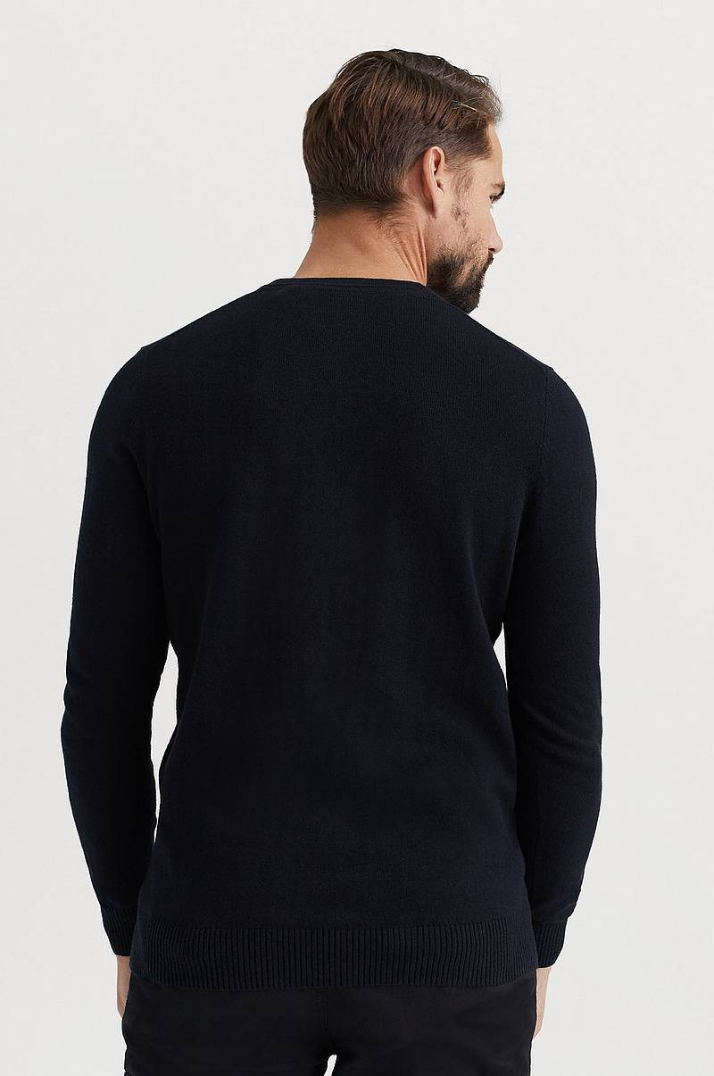 Genser V-Neck Cotton Merino Jumper