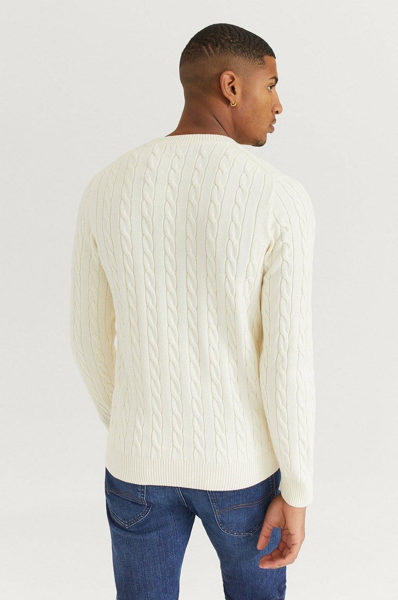 Strikket genser Cotton Cable Crew