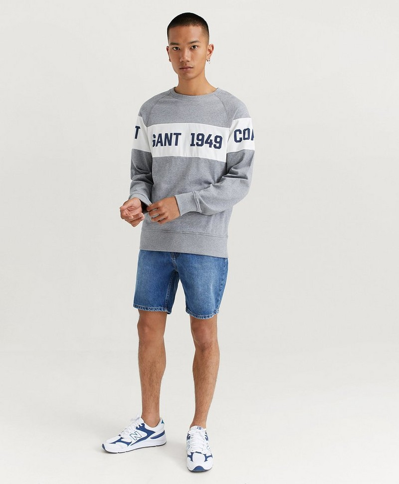 Sweatshirt Gant Chest Stripe C Neck