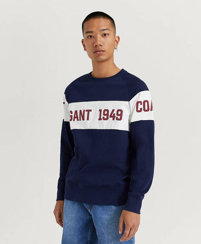 Gant Chest Stripe C Neck