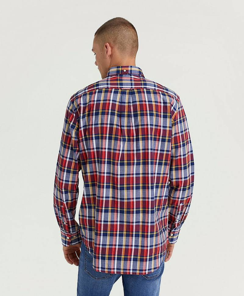Skjorte Oxford Plaid Reg BD