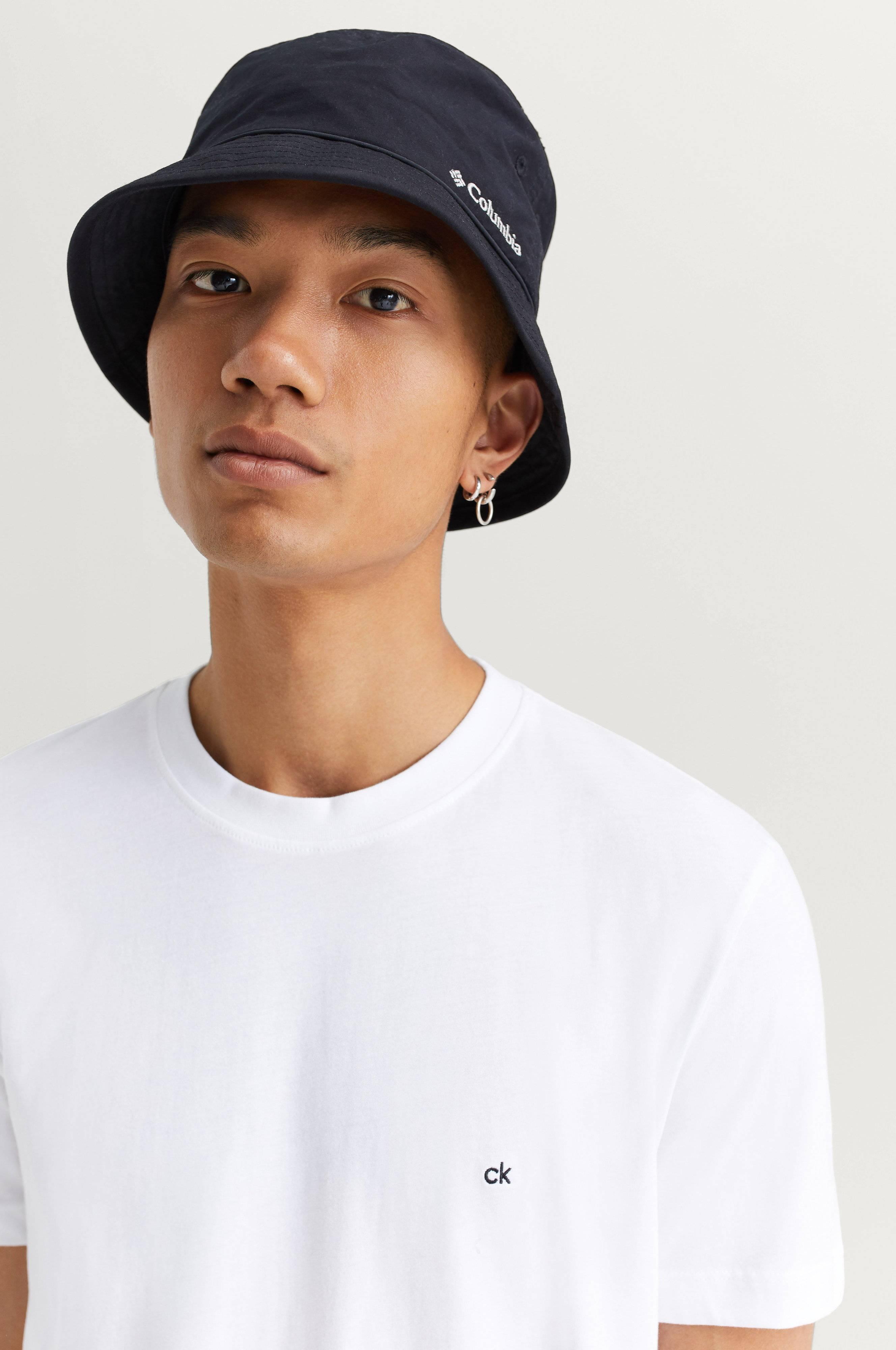 Calvin Klein Cotton Logo Embroided T-shirt Vit