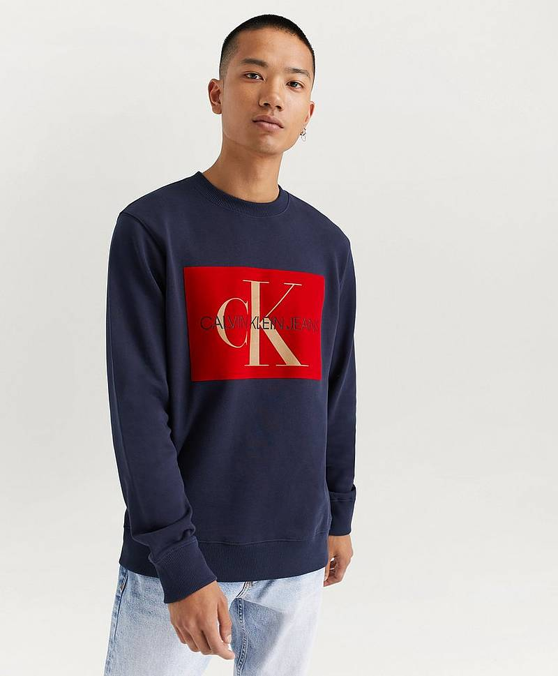 Sweatshirt Flock Monogram Box Reg Crew Neck