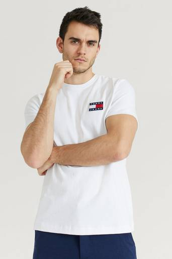 Tommy Hilfiger T-Shirt TJM Tommy Jeans Badge Tee Vit