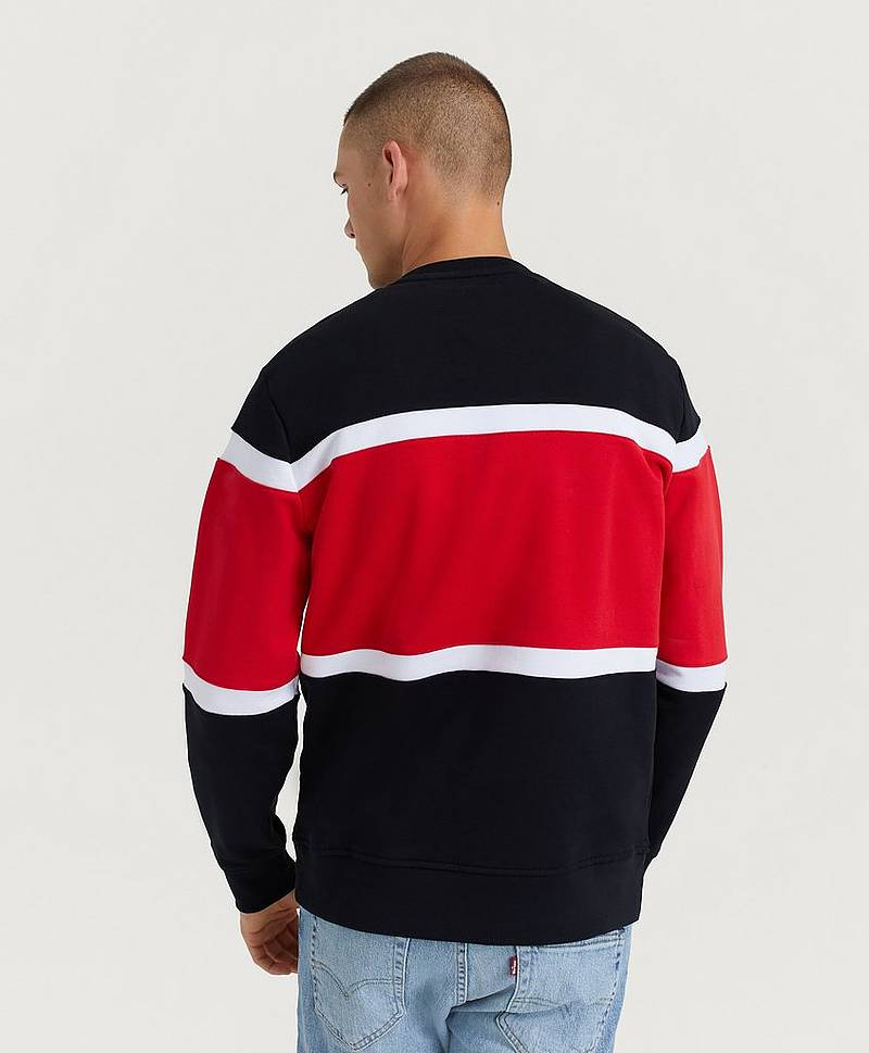 PIECED CREW SWEATSHIRT JERSEY