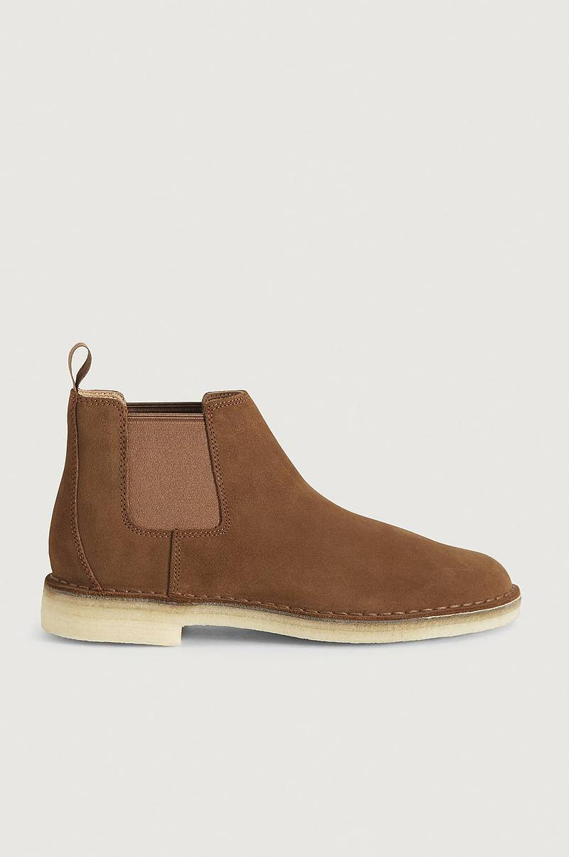 Chelseaboots Desert Chelsea Cola Suede