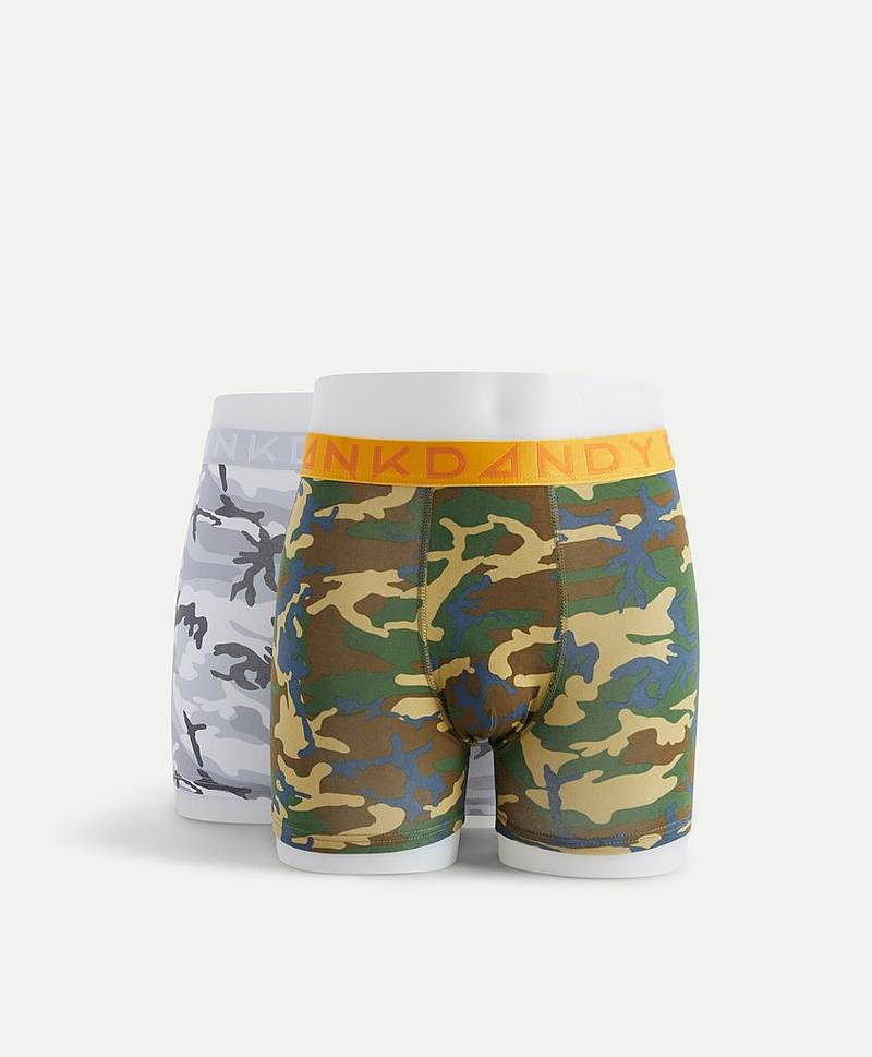 2 Pack Camo Boxer
