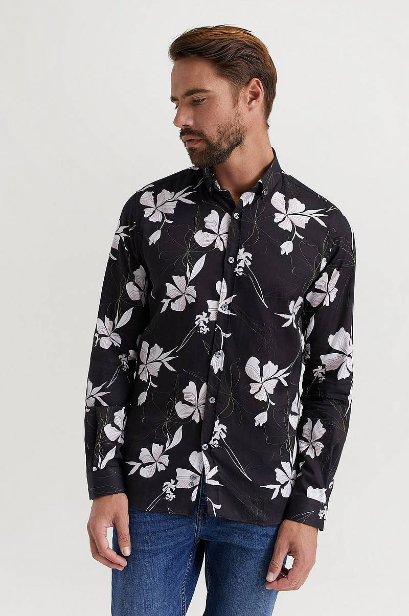 Skjorte Button Down Satin Shirt
