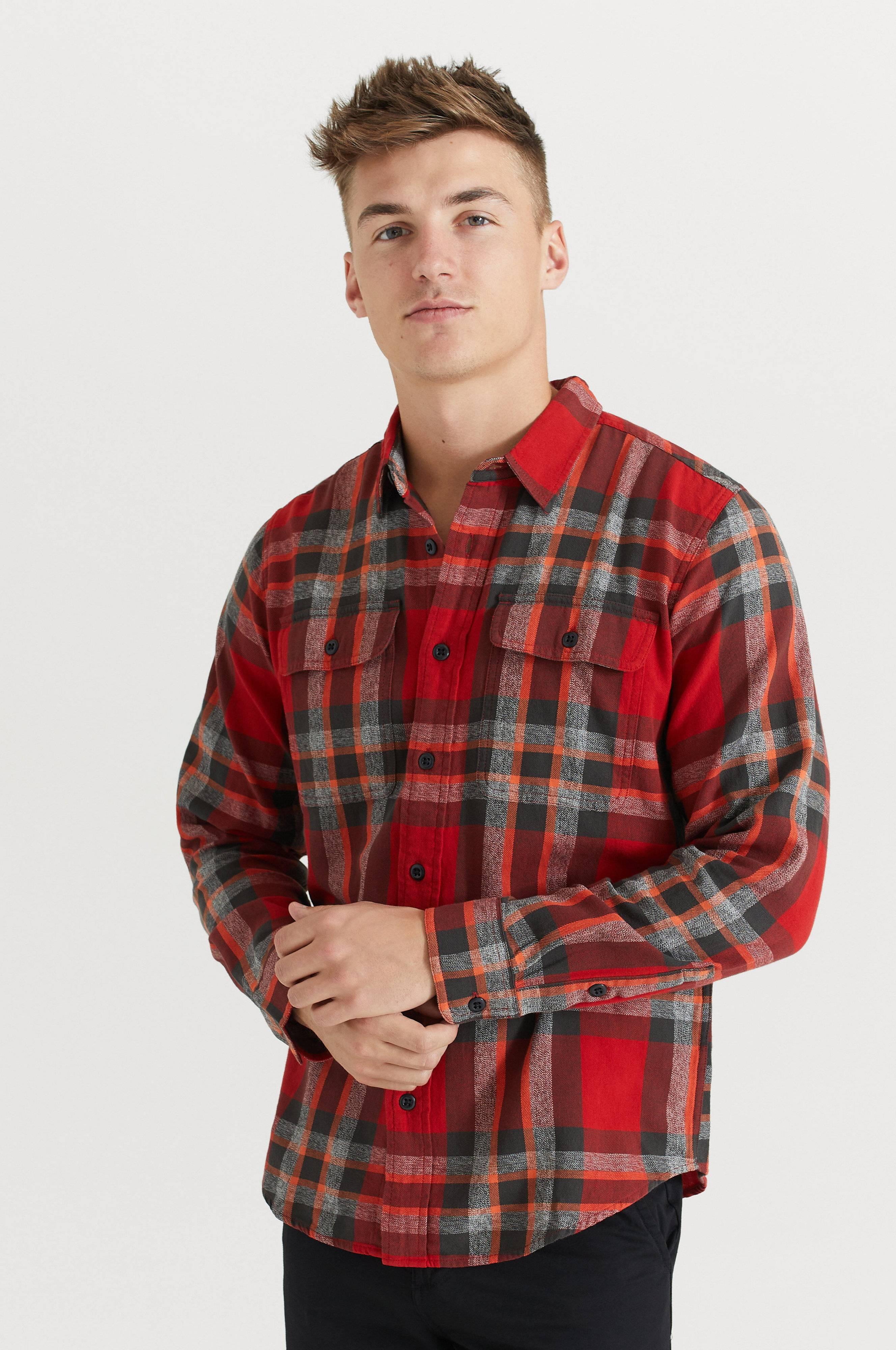 Filson Skjorta Scout Shirt Röd