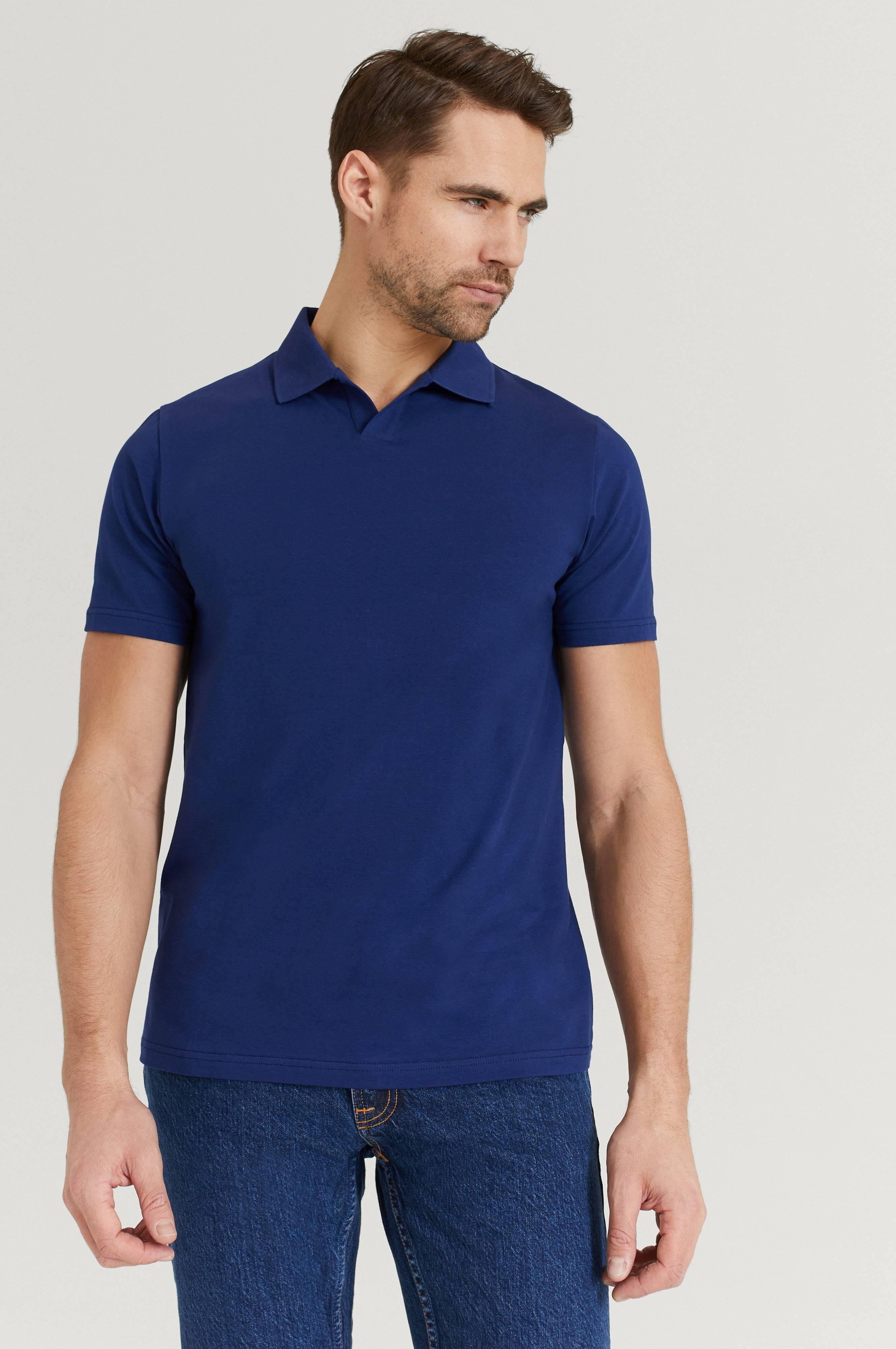 Filippa K Pikétröja M. Lycra Polo T-Shirt Blå