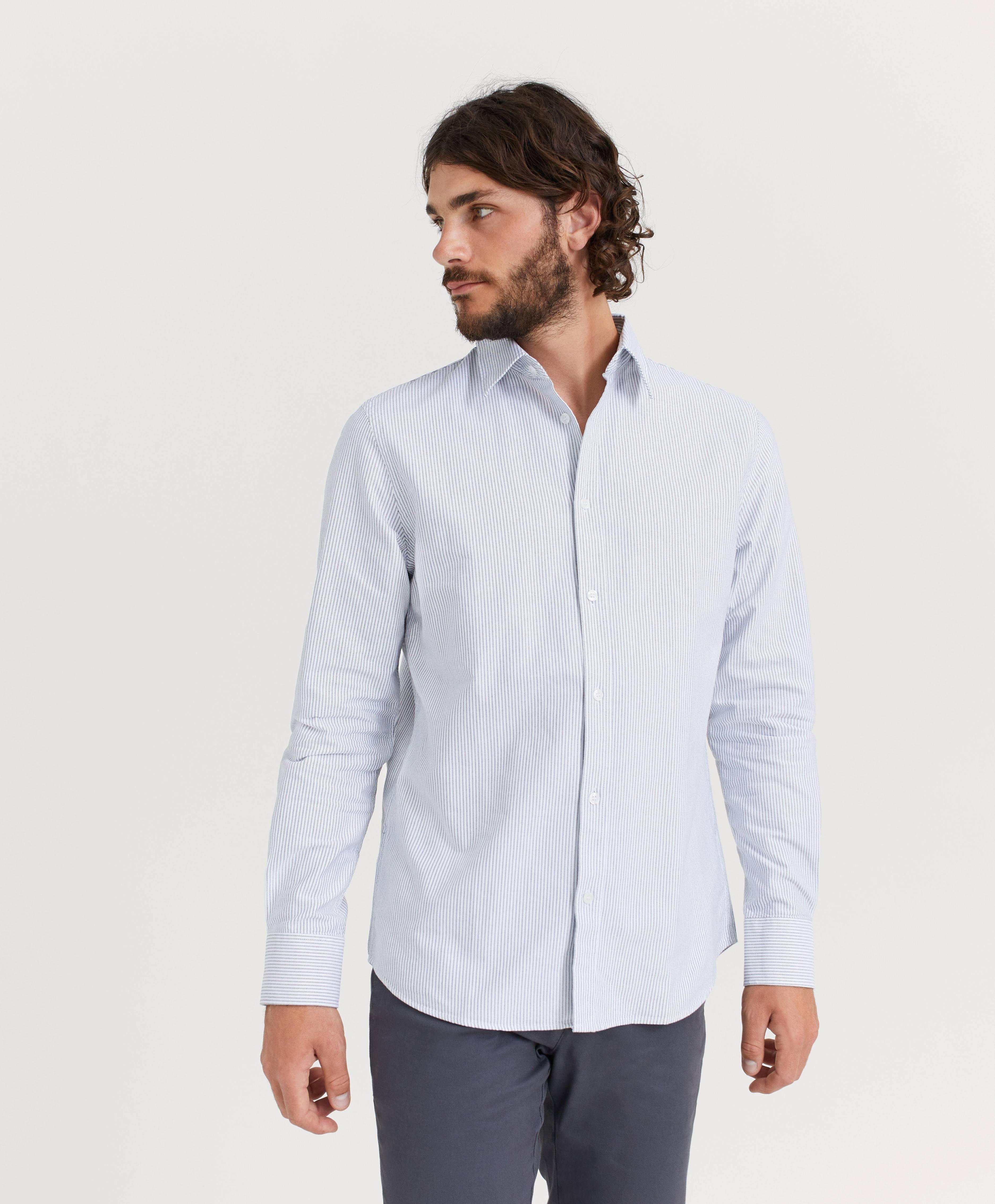 Filippa K M. Ben Oxford Shirt Blå