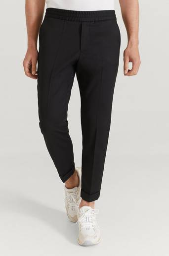 Filippa K Byxor M. Terry Cropped Trouser Svart