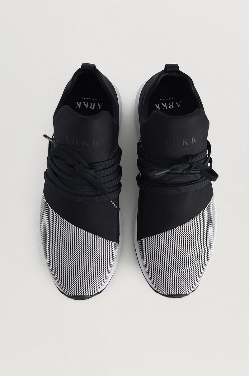 Sneakers Raven Mesh S-E15 Black White-MEN