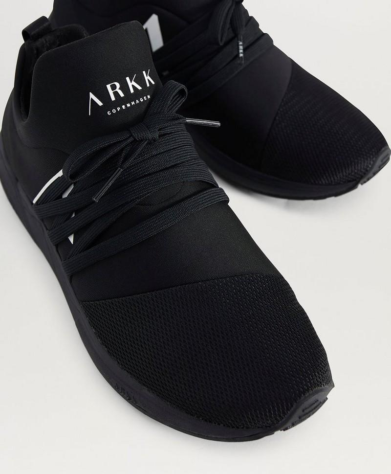 ARKK Copenhagen Sneakers Raven Mesh S E15 All Black White