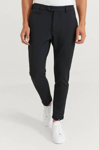 Les Deux Byxor Como Pinstripe Suit Pants Blå