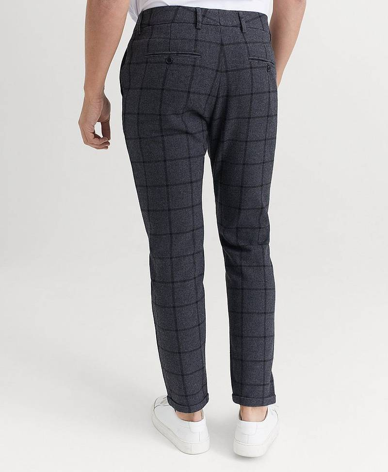 BUKSE Como Wool Check Pants