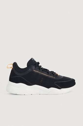Bilde av Arkk Copenhagen Sneakers Lyron Mesh F-pro90 Black Orange Glow-m Svart