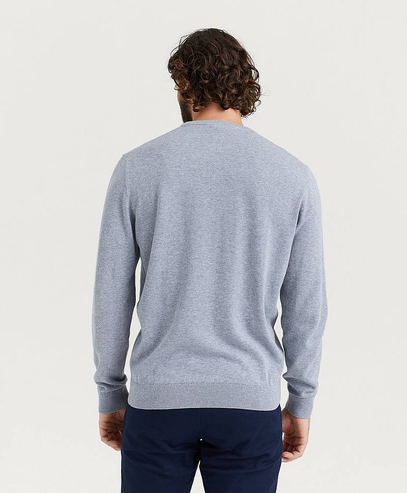Stickad tröja Round Neck Cotton Knit