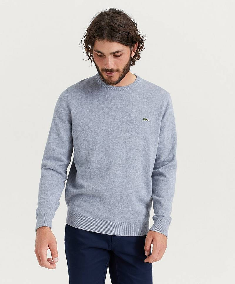 Strikket genser Round Neck Cotton Knit