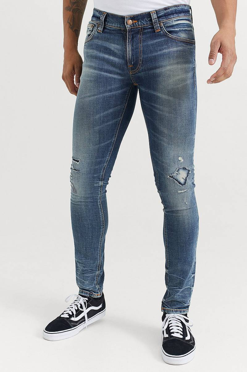 JEANS Tight Terry Worn Repaired