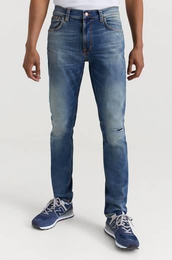 Nudie Jeans Jeans Lean Dean Repairs Blå