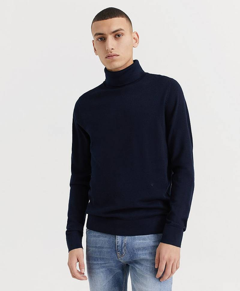Polotröja Fine Merino Wool Roll Neck Knitted Jumper