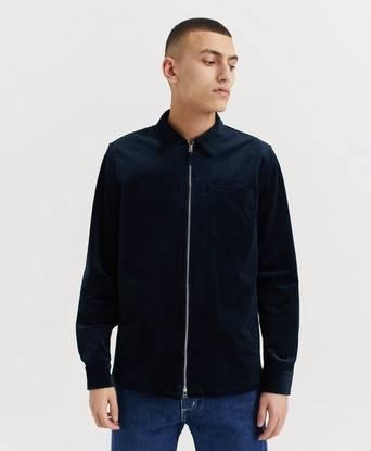 NN07 Skjorta Zip Shirt 1322 Blå