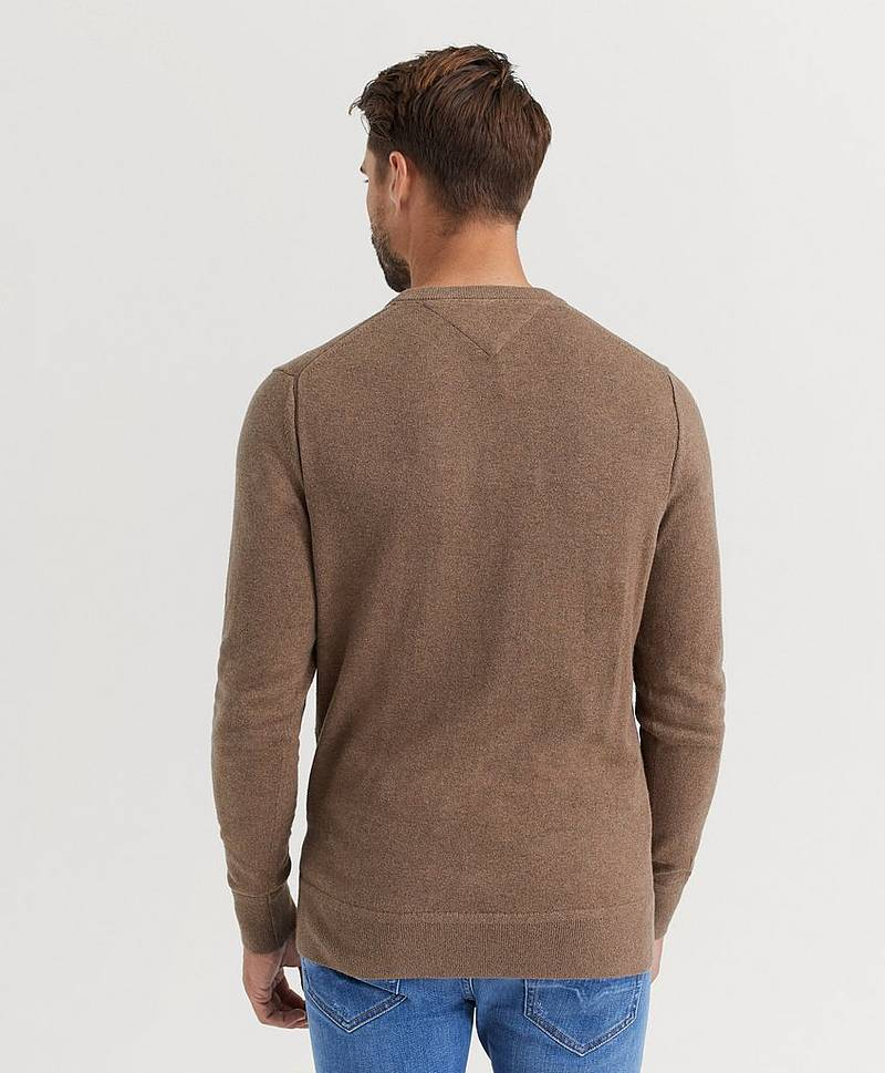 Strikket genser Pima Cotton Cashmere Crew Neck