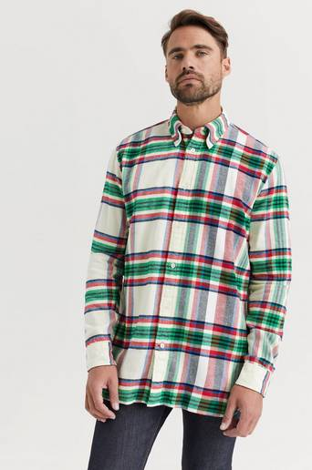 Tommy Hilfiger Skjorta Relaxed Blown Up Check Shirt Brun