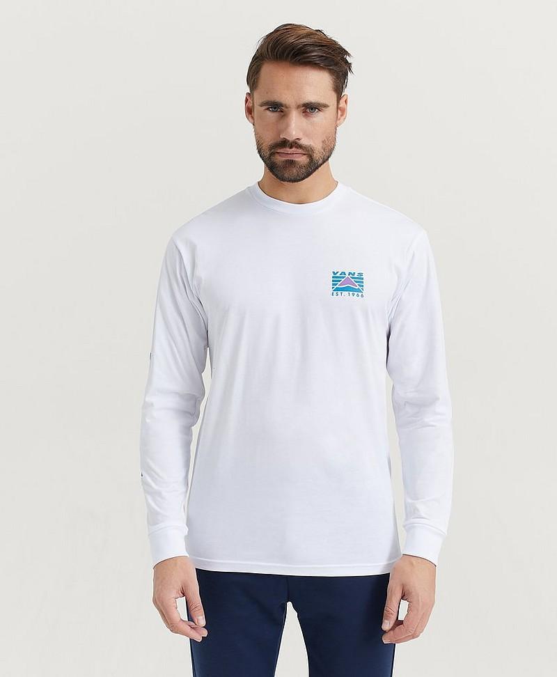 Vans Långärmad T shirt Hi Point LS Hvid Tøj Stayhard.dk