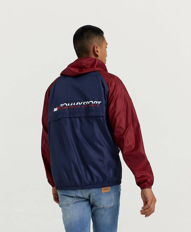 Hoodie Windbreaker With Back Logo