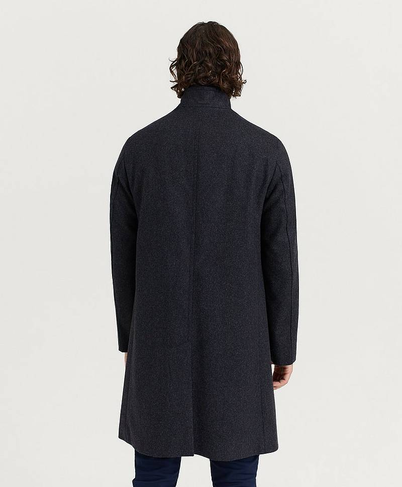 Rock Wool Cashmere Blend Funnel Coat