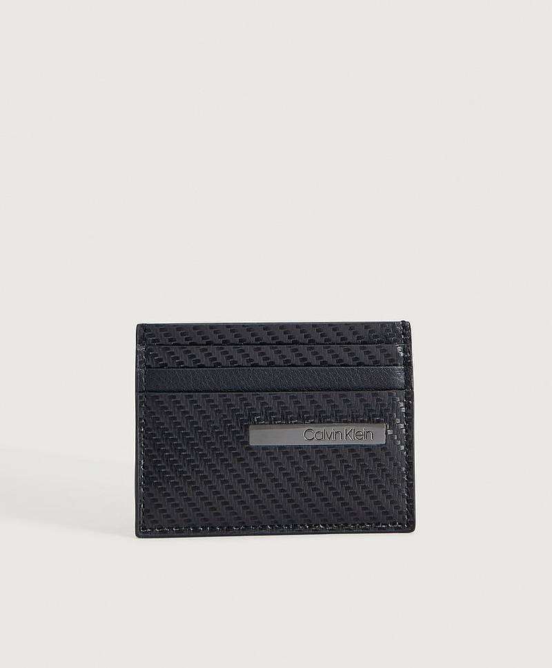 PLÅNBOK Carbon Leather Cardholder