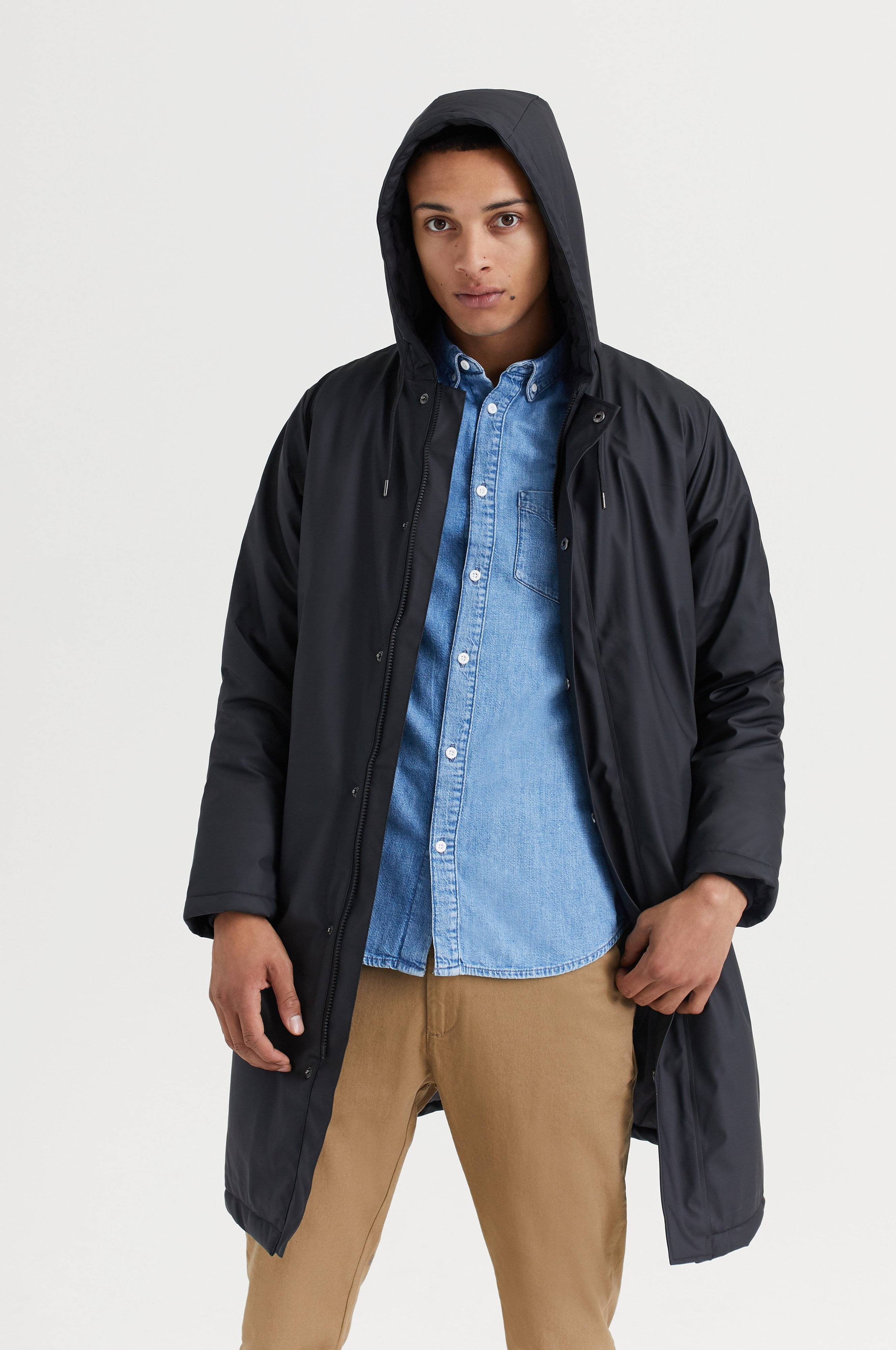 Rains Padded Coat Svart