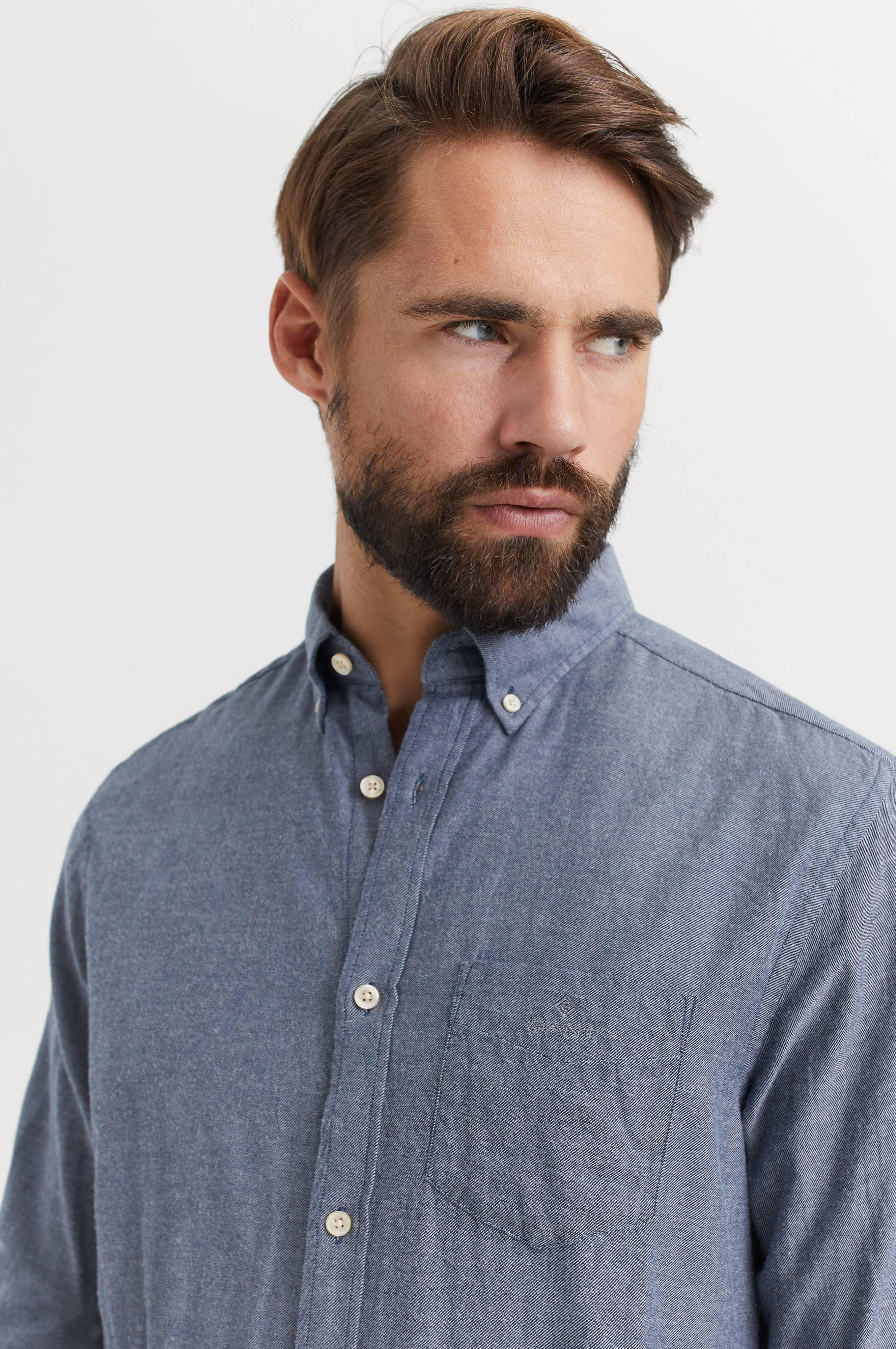 Gant Skjorta D2. Windblown Flannel Reg BD Blå