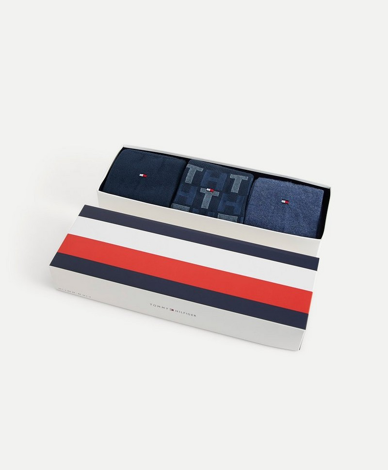 Strumpor TH Men Mixed Stripes Giftbox 3p