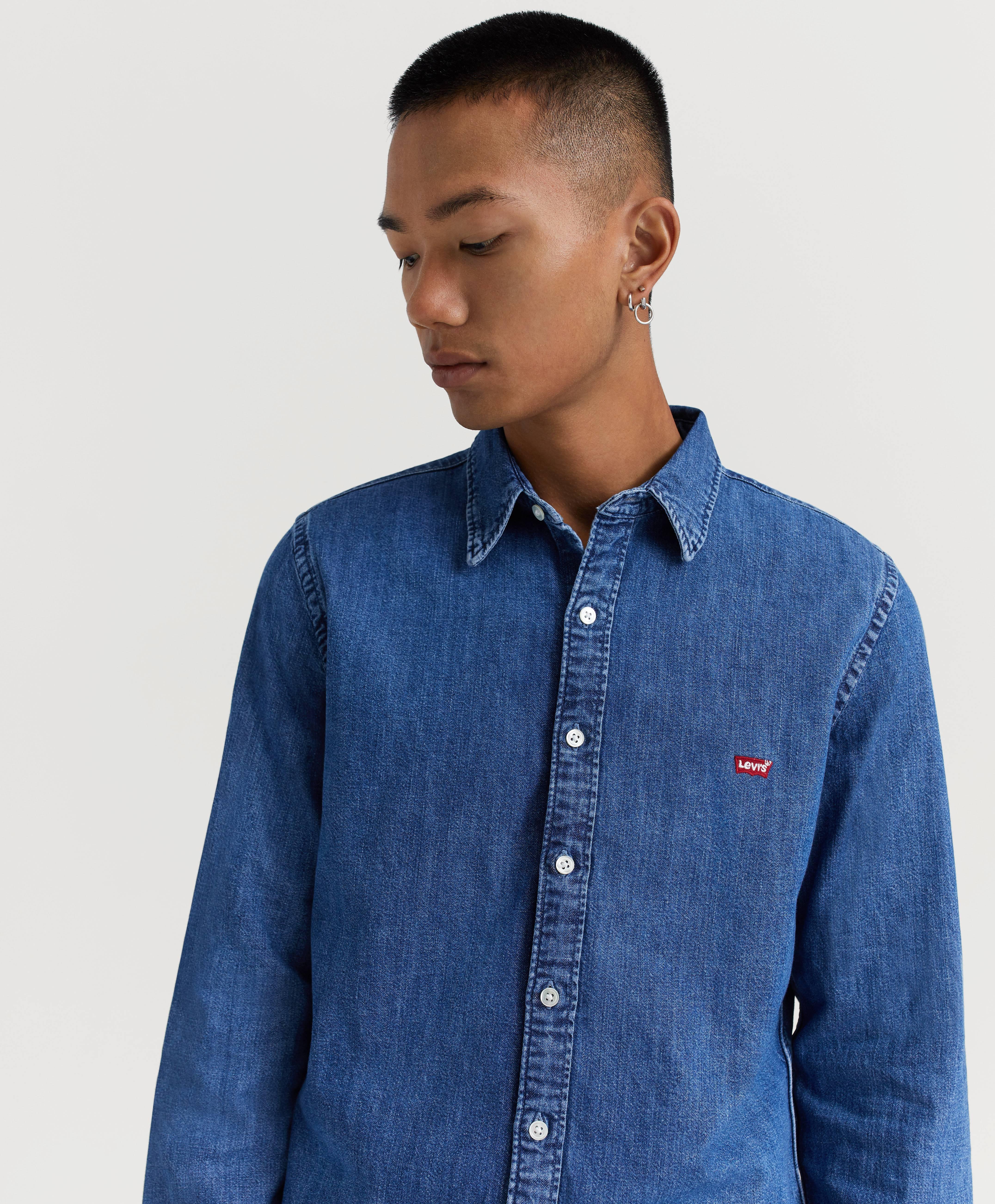 Levi's Skjorta LS Battery HM Shirt Blå