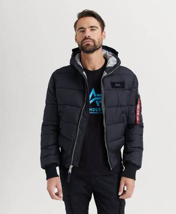 Bilde av Alpha Industries Jakke Hooded Puffer Fd V Svart