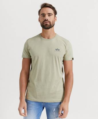 Alpha Industries T-SHIRT Basic T-shirt Small Logo Grön
