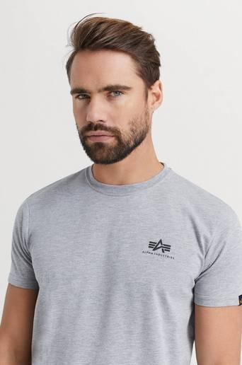 Alpha Industries T-Shirt Basic T-Shirt Small Logo Grå  Male Grå