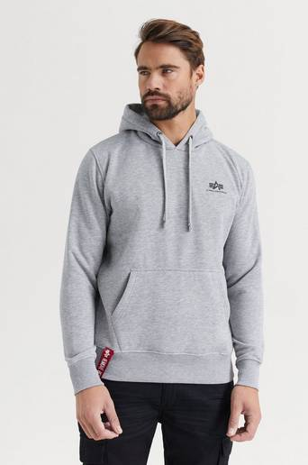 Bilde av Alpha Industries Hoodie Basic Hoody Small Logo Grå