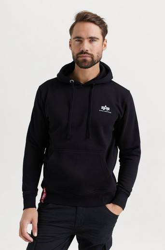 Bilde av Alpha Industries Hoodie Basic Hoody Small Logo Svart