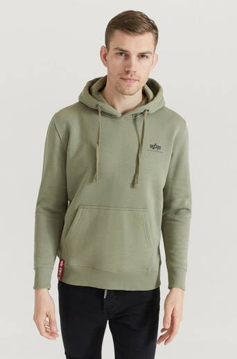 Bilde av Alpha Industries Hoodie Basic Hoody Small Logo Grønn