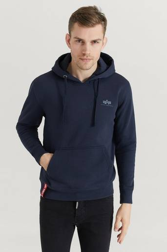 Bilde av Alpha Industries Hoodie Basic Hoody Small Logo Blå