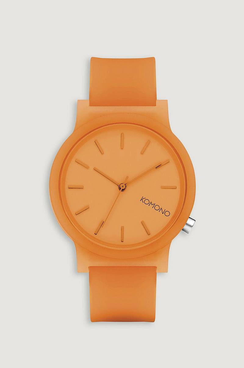 Klocka Mono Neon Orange Glow