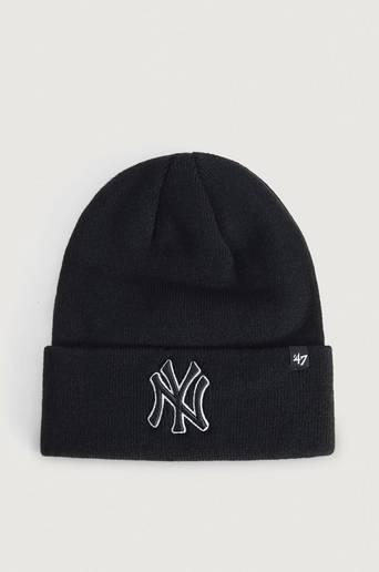 Bilde av 47 Brand Lue Mlb New York Yankees 47 Raised Cuff Knit Svart