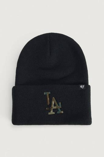 Bilde av 47 Brand Lue Mlb Los Angeles Dodgers Caster Camo '47 Cuff Knit Svart
