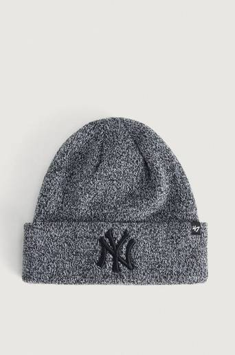 Bilde av 47 Brand Lue Mlb New York Yankees Checker '47 Cuff Knit Grå