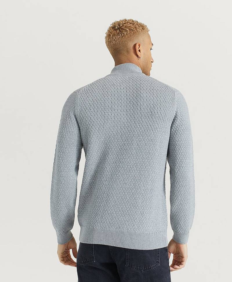 Strikkegenser D1. Honeycomb Half Zip