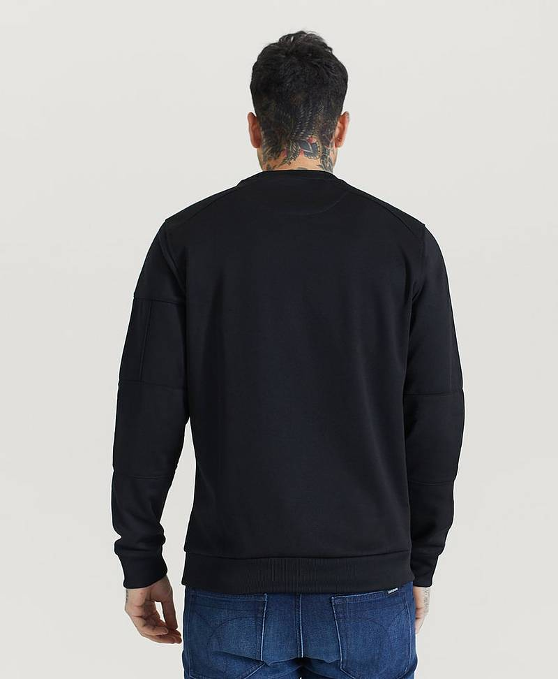 Sweatshirt Sleeve Pocket Crew Neck Sweatshirt